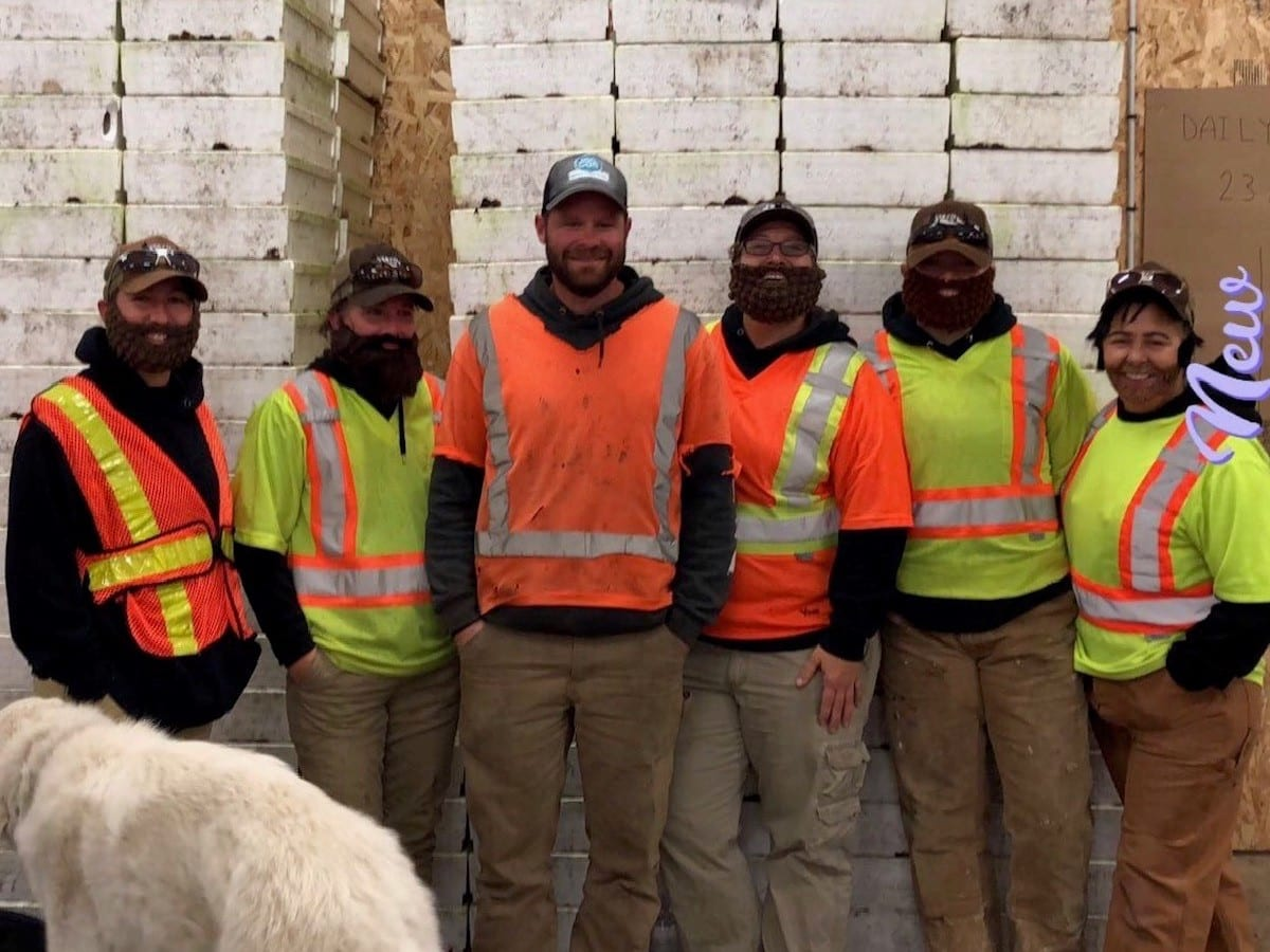 The whole team, including the do, are commited to safety here at Mt. Ida Nursery in Salmon Arm, British Columbia.
